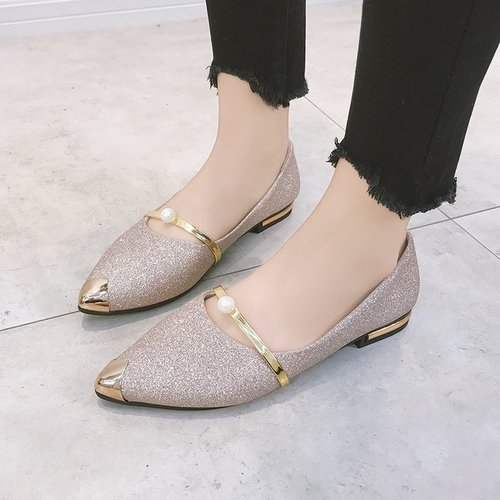 815de7ea1ab2b4 Korean version of the spring and autumn new flat-bottom students single  shoes female shallow